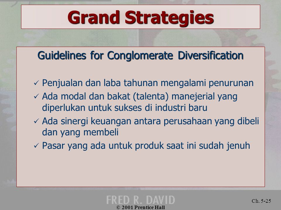 Guidelines for Conglomerate Diversification