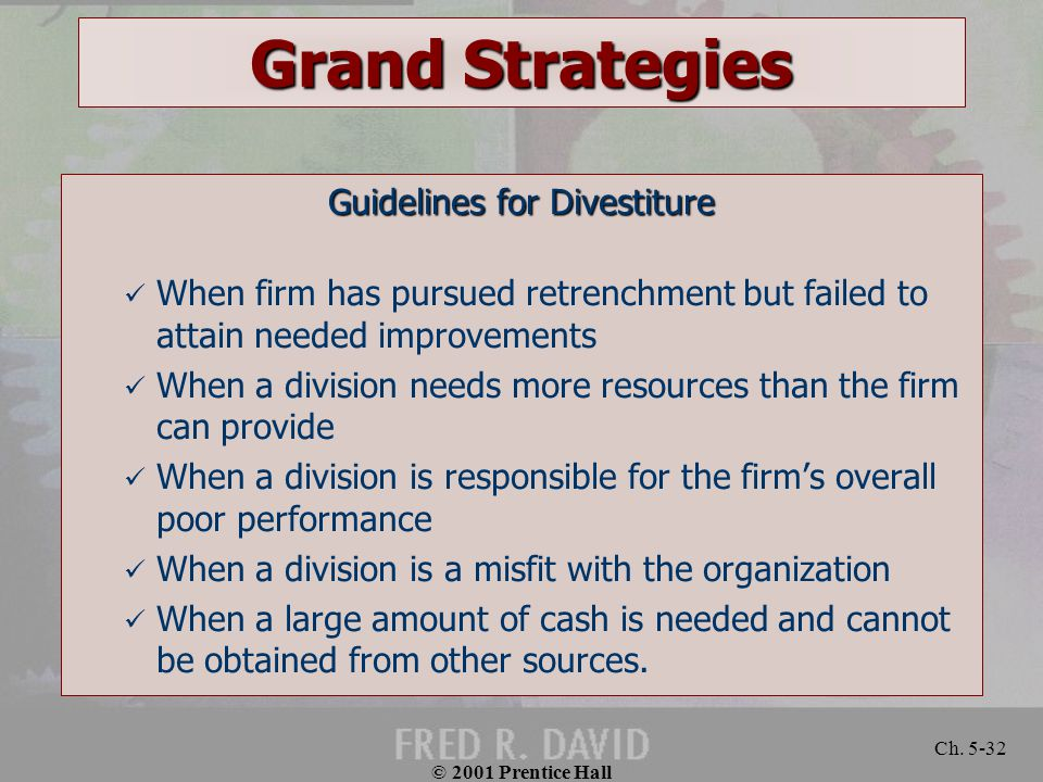 Guidelines for Divestiture