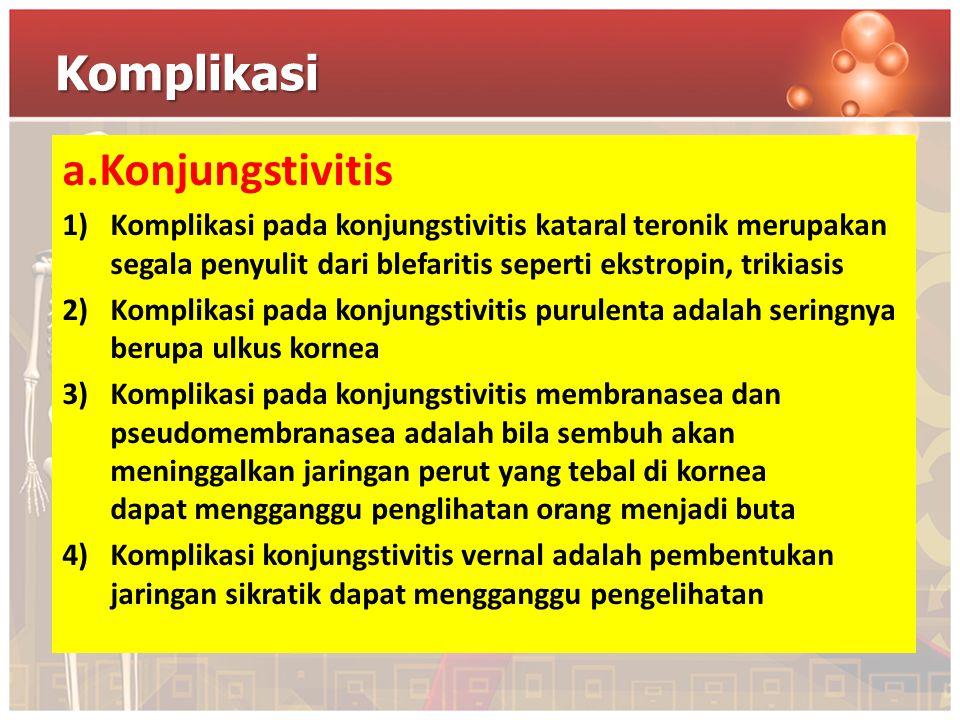 Komplikasi a.Konjungstivitis