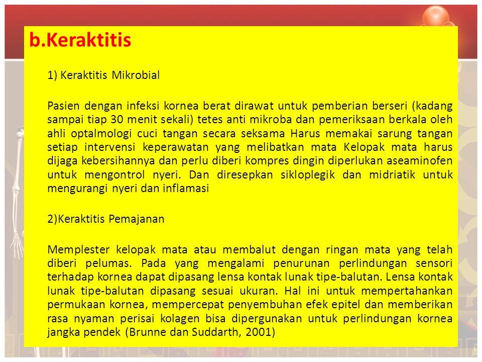 b.Keraktitis 1) Keraktitis Mikrobial