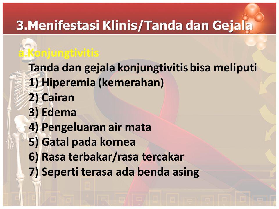 3.Menifestasi Klinis/Tanda dan Gejala