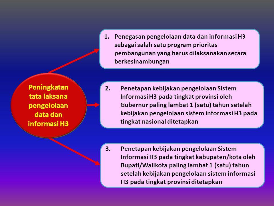 Peningkatan tata laksana pengelolaan data dan informasi H3