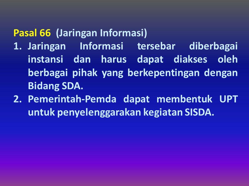 Pasal 66 (Jaringan Informasi)