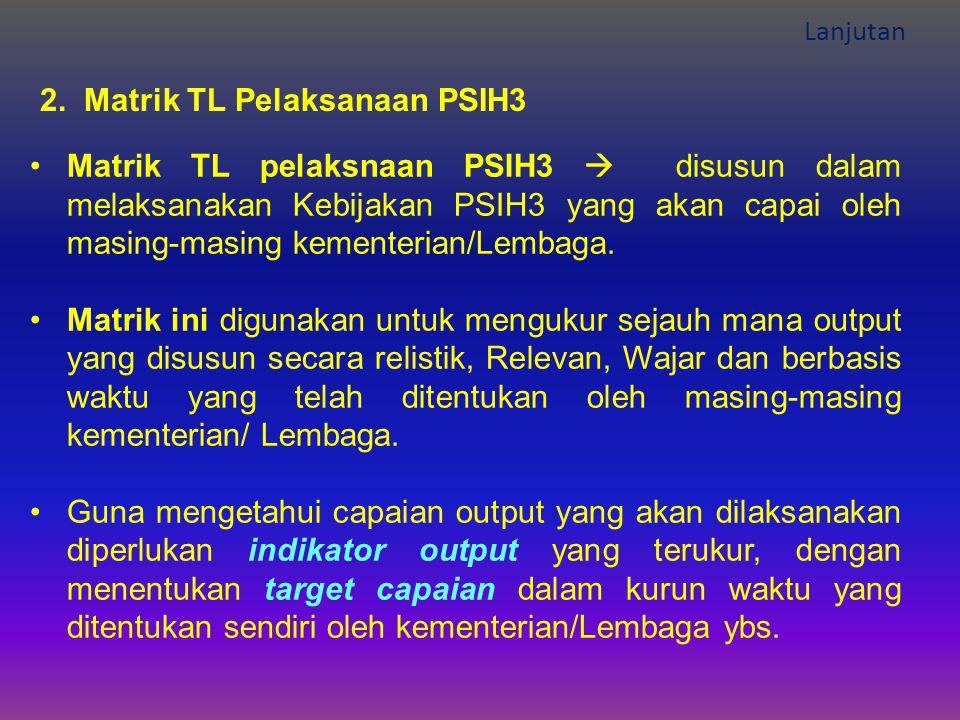 2. Matrik TL Pelaksanaan PSIH3