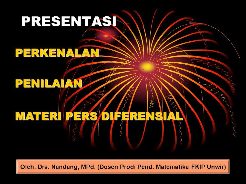 Oleh: Drs. Nandang, MPd. (Dosen Prodi Pend. Matematika FKIP Unwir)