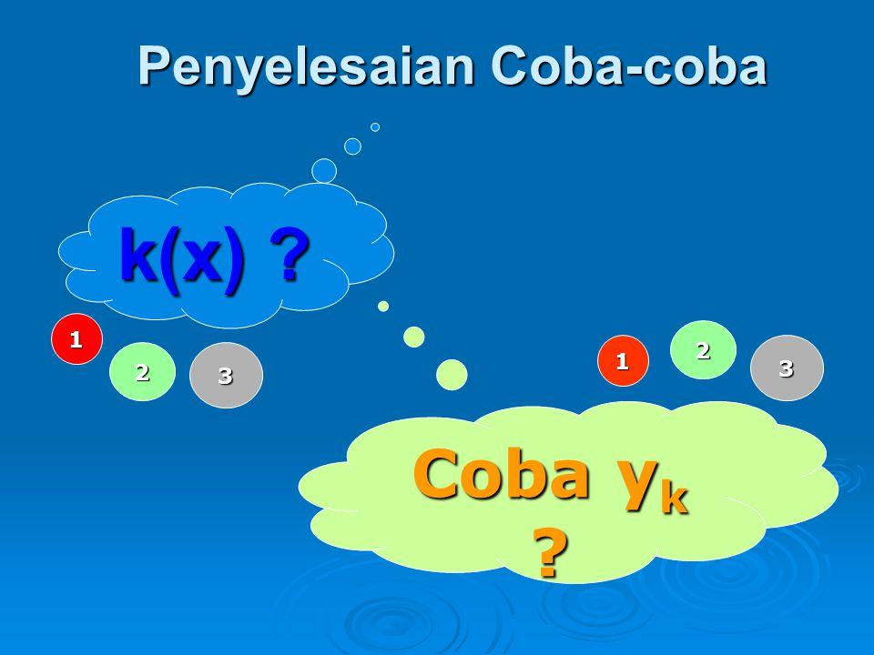 Penyelesaian Coba-coba