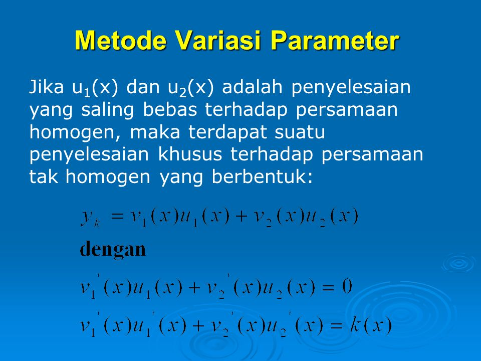 Metode Variasi Parameter