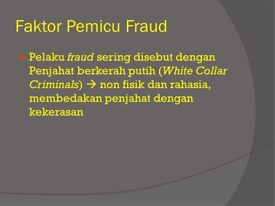 Faktor Pemicu Fraud