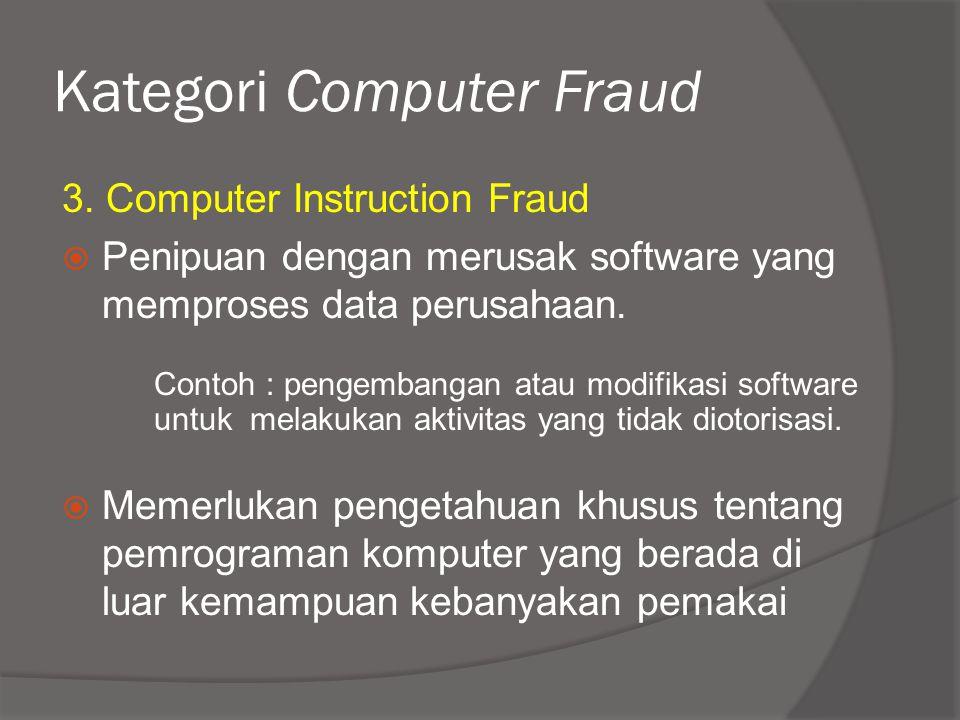 Kategori Computer Fraud