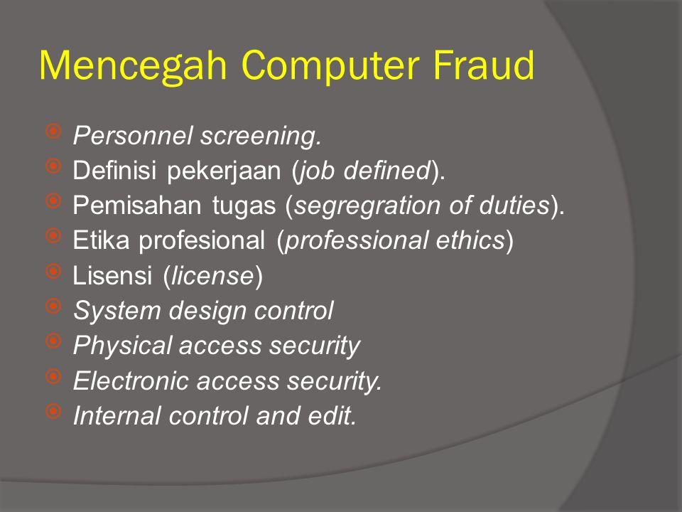 Mencegah Computer Fraud