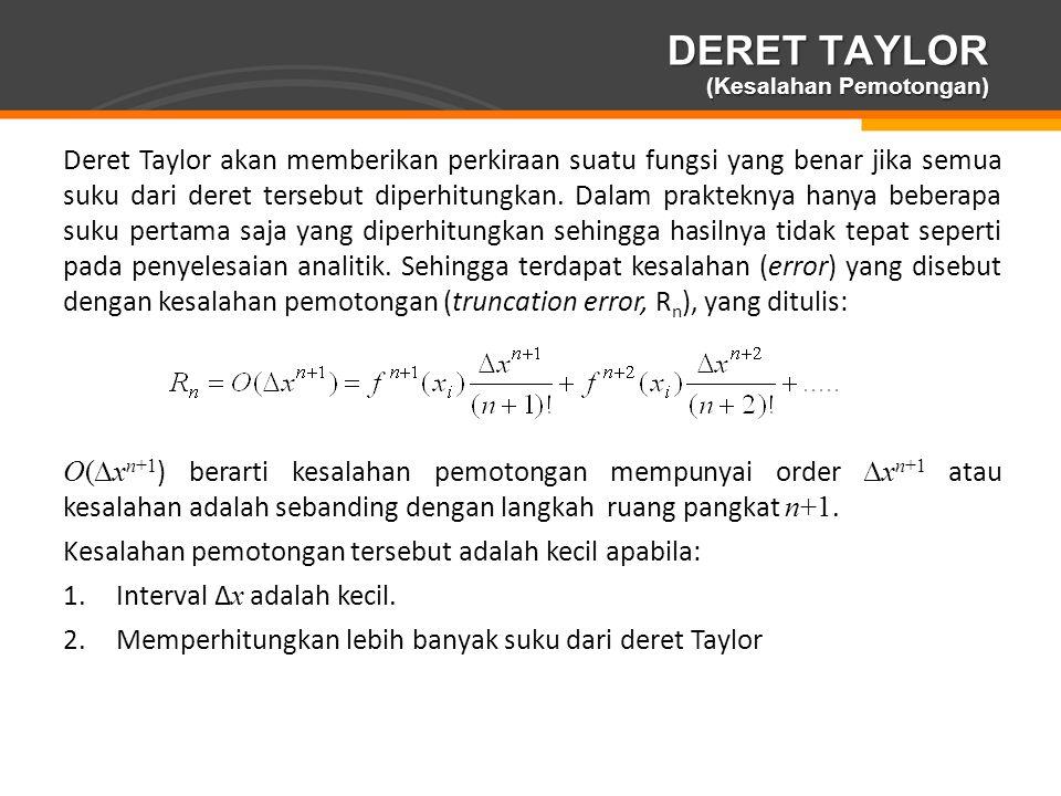 DERET TAYLOR (Kesalahan Pemotongan)