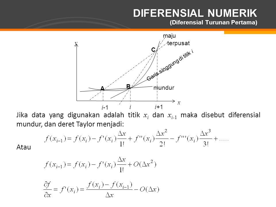 DIFERENSIAL NUMERIK (Diferensial Turunan Pertama)