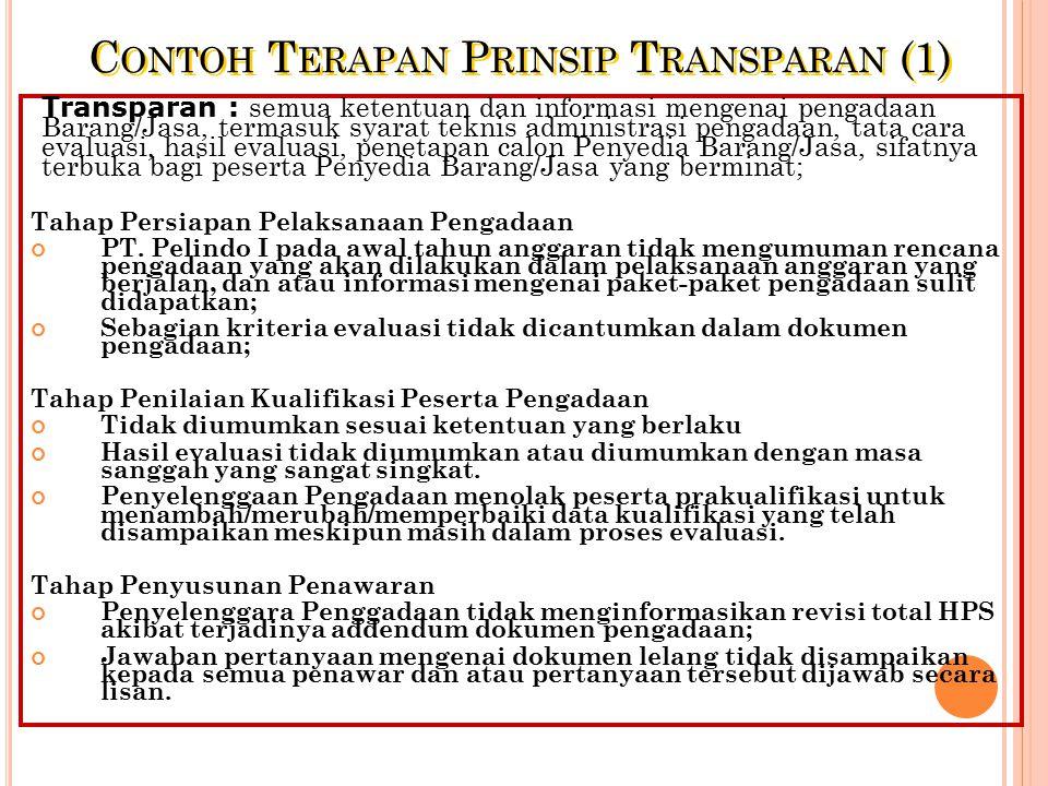 Contoh Terapan Prinsip Transparan (1)