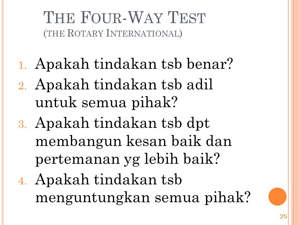 The Four-Way Test (the Rotary International)