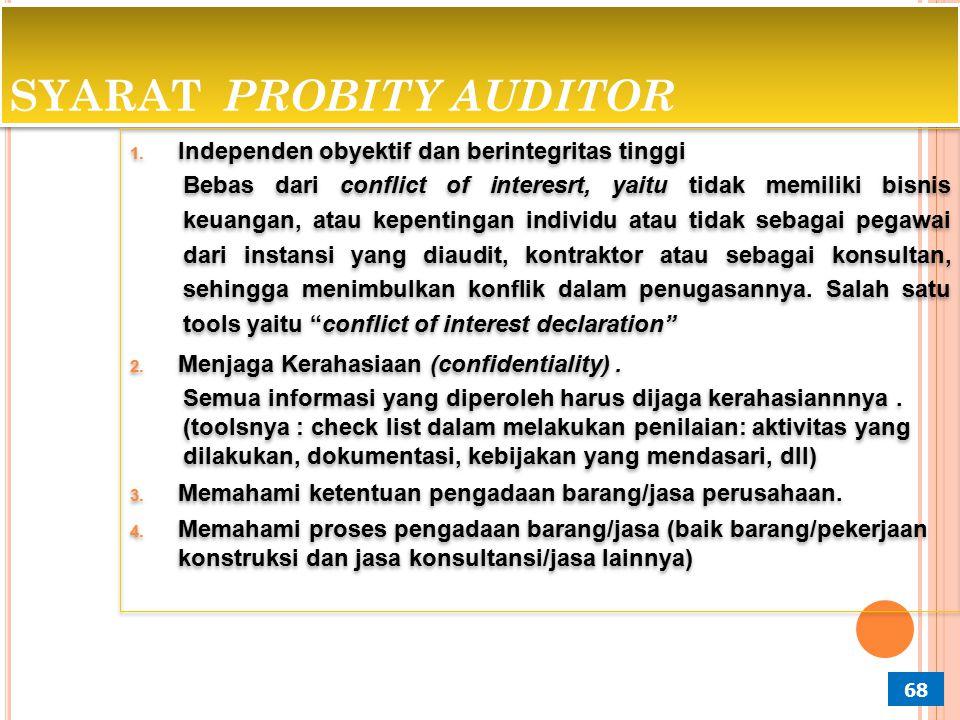 SYARAT PROBITY AUDITOR