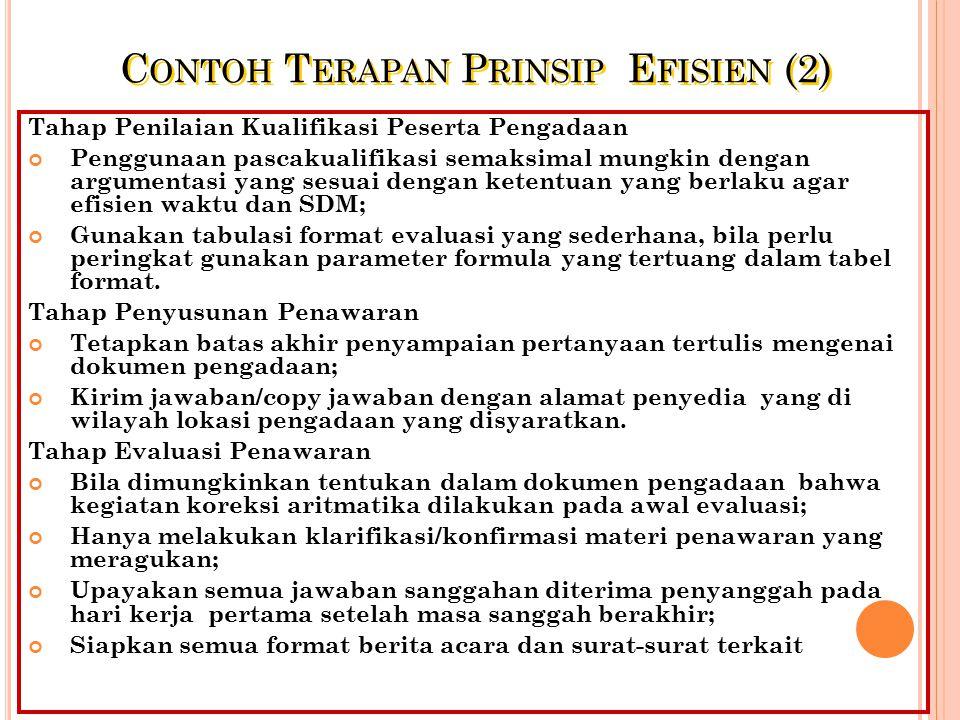Contoh Terapan Prinsip Efisien (2)