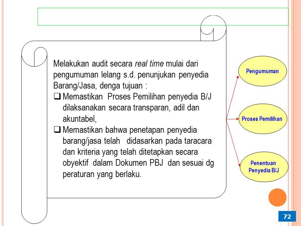 IMPLEMENTASI PROBITY AUDIT PADA TAHAP PEMILIHAN PENYEDIA BARANG/JASA