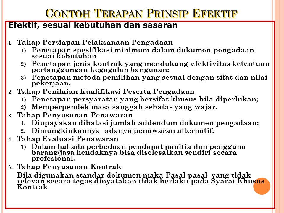 Contoh Terapan Prinsip Efektif