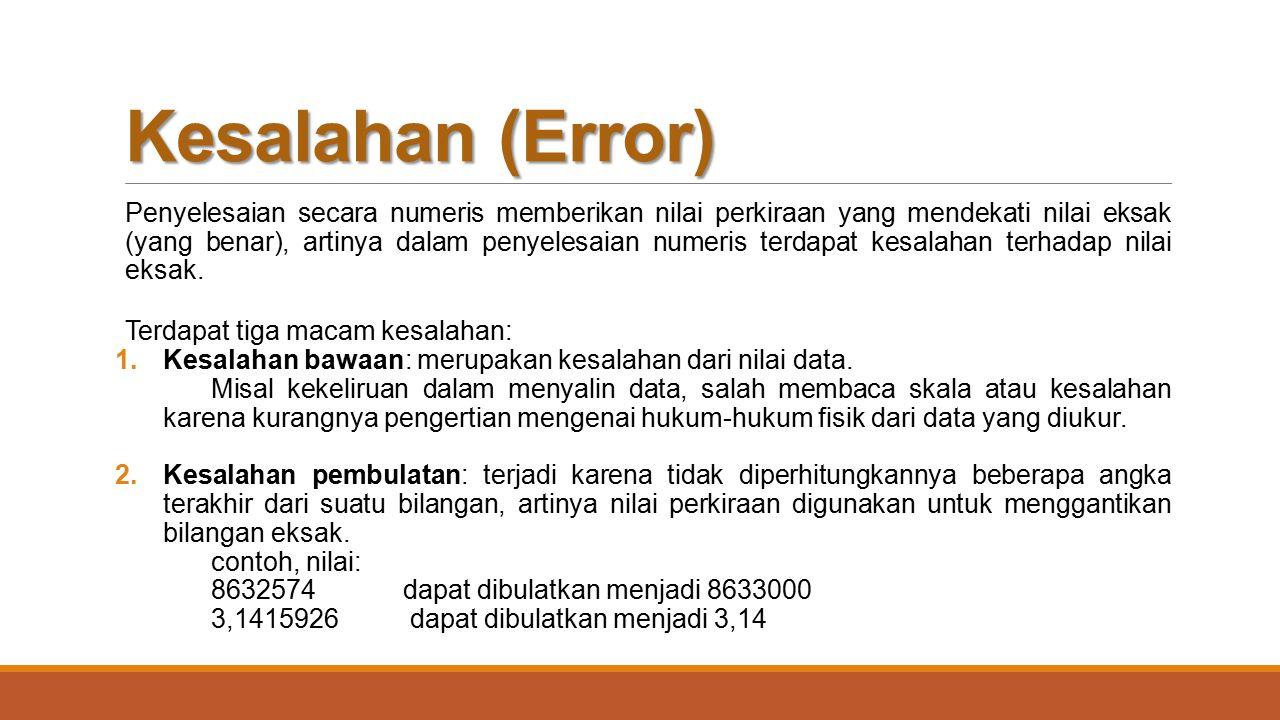 Kesalahan (Error)