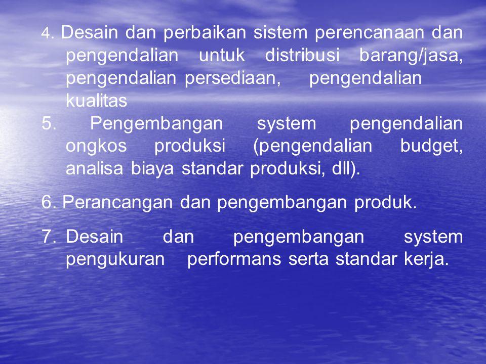 6. Perancangan dan pengembangan produk.