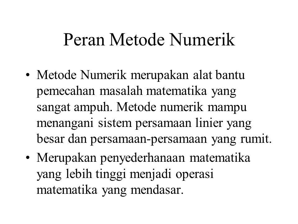 Peran Metode Numerik