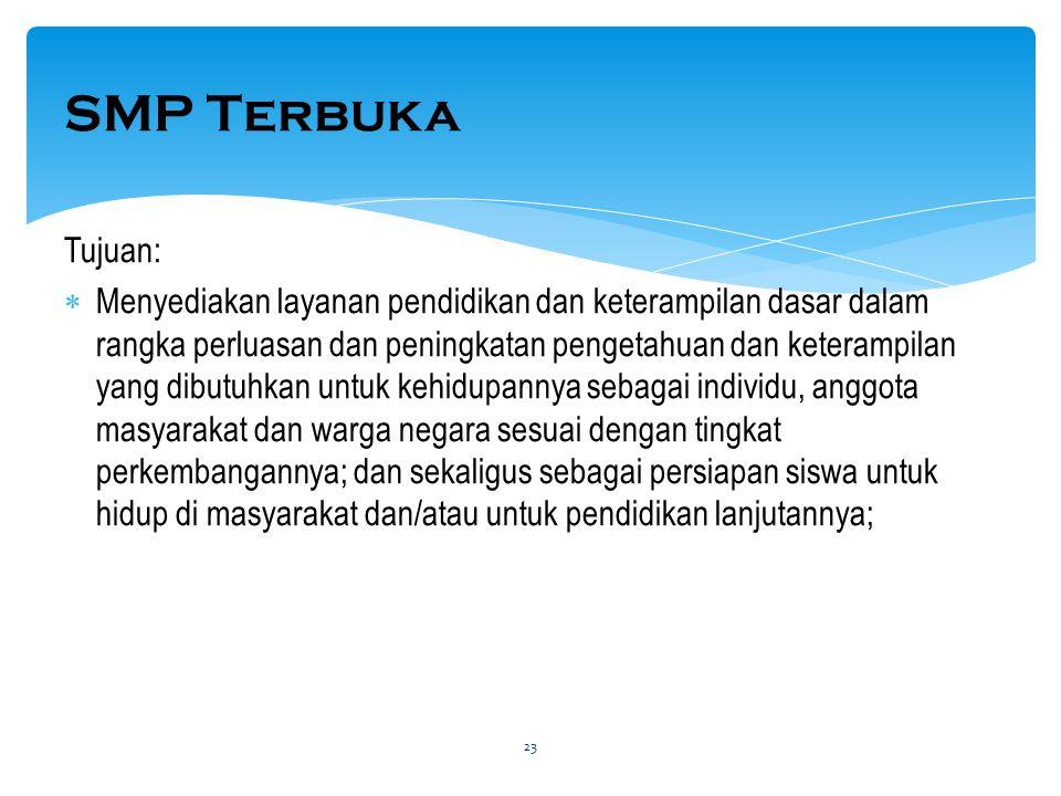 SMP Terbuka Tujuan:
