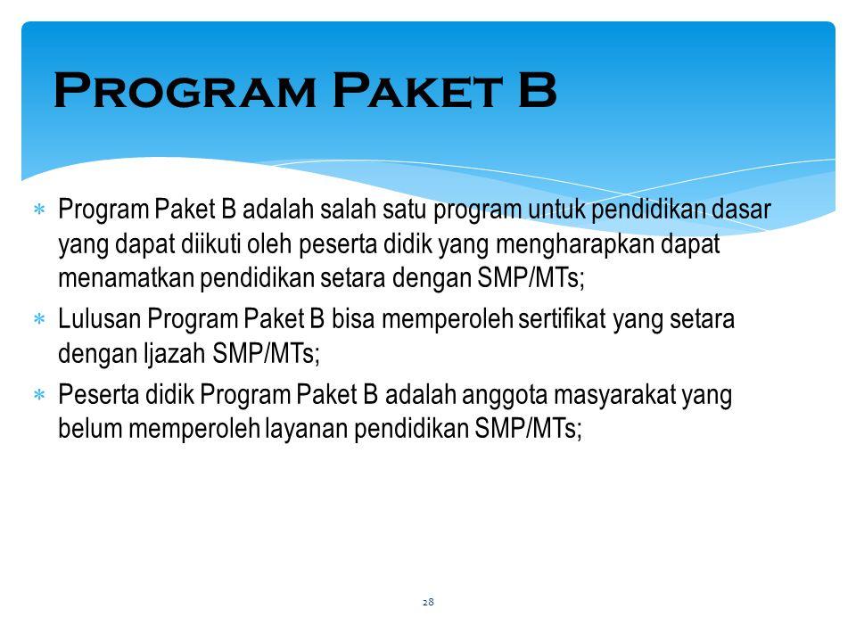 Program Paket B