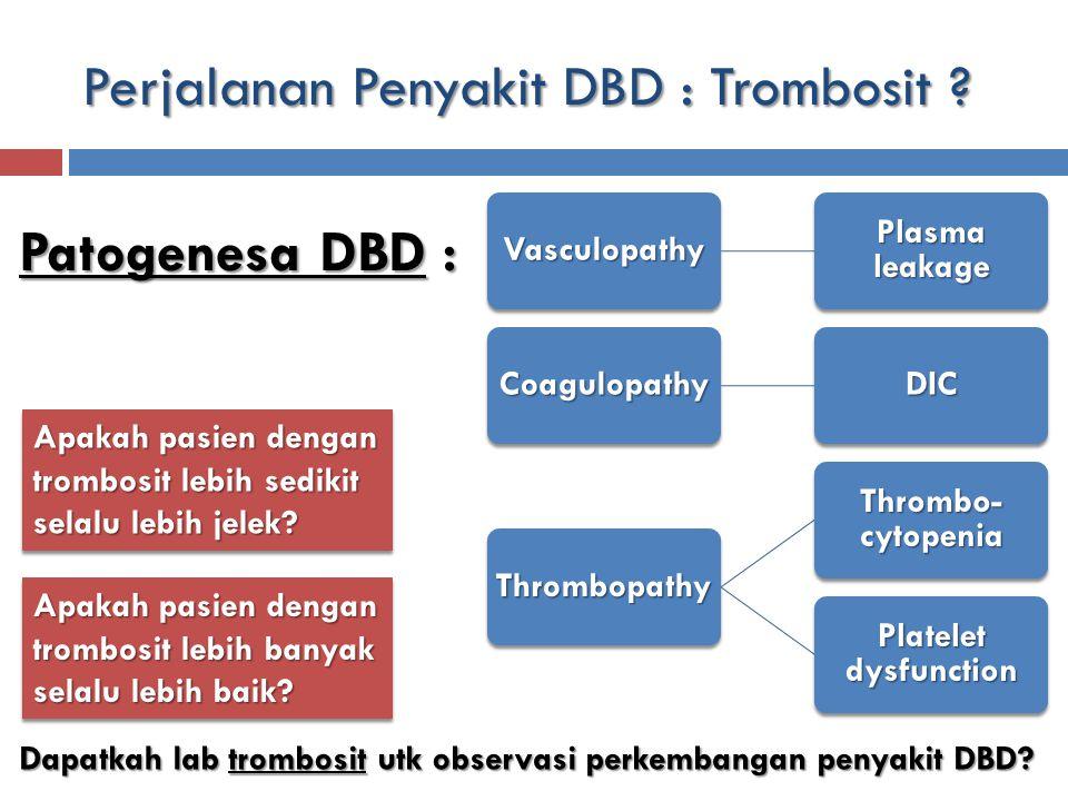 Perjalanan Penyakit DBD : Trombosit