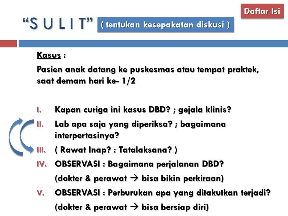 S U L I T Daftar Isi ( tentukan kesepakatan diskusi ) Kasus :