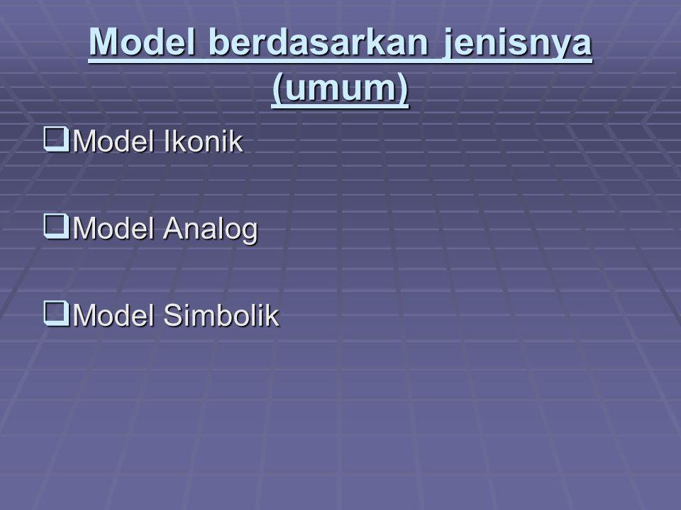 Model berdasarkan jenisnya (umum)