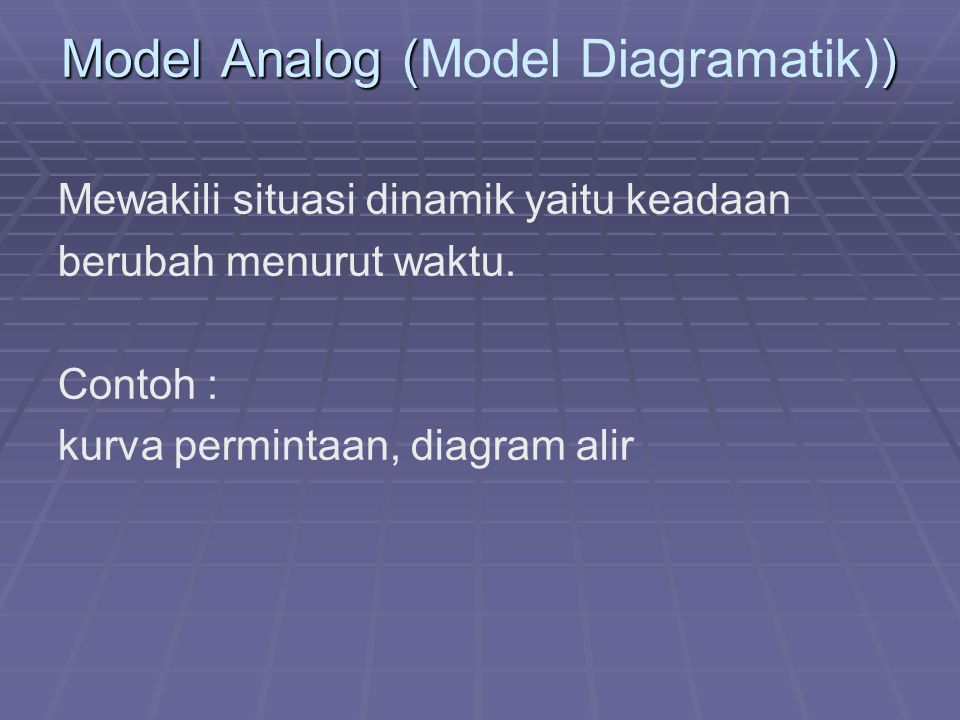 Model Analog (Model Diagramatik))