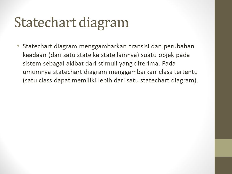 Statechart diagram