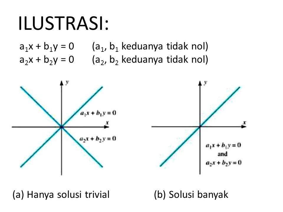 ILUSTRASI: a1x + b1y = 0 (a1, b1 keduanya tidak nol)