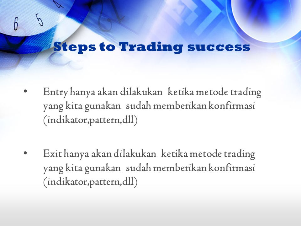 Steps to Trading success