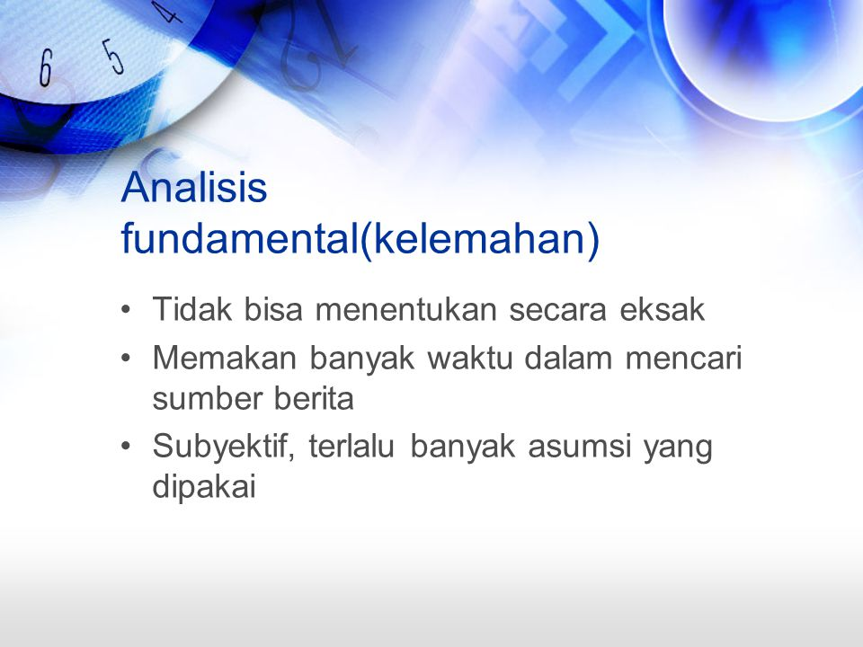 Analisis fundamental(kelemahan)