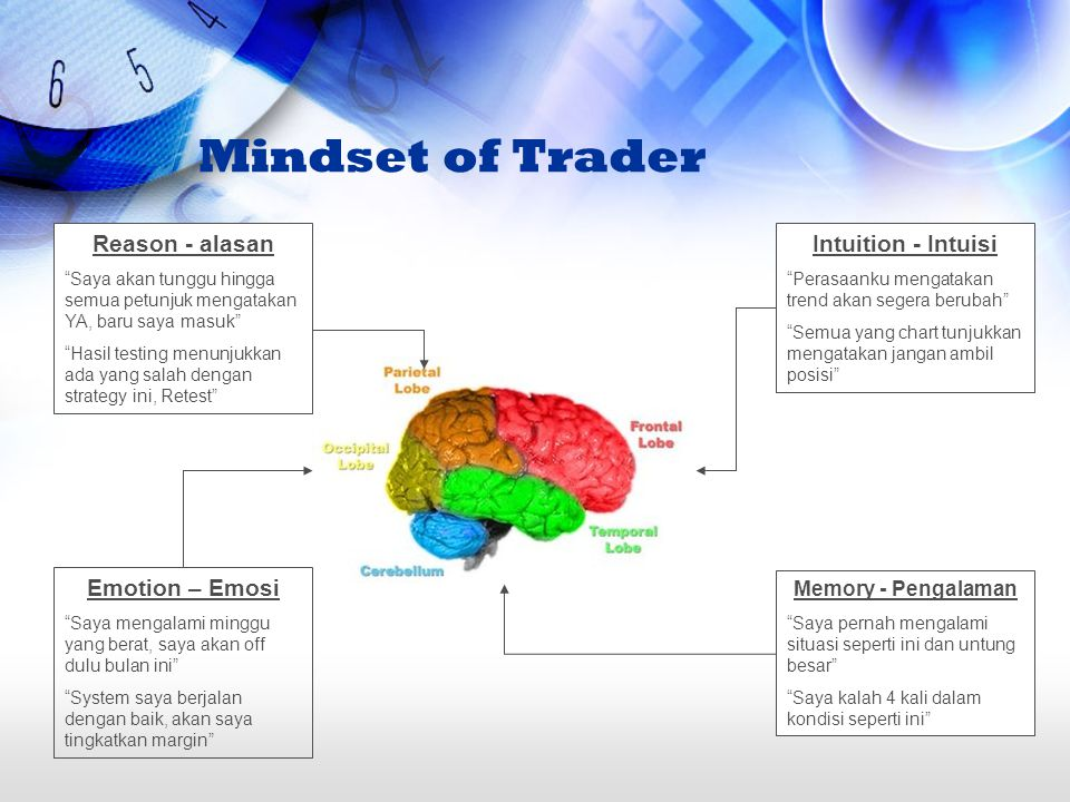 Mindset of Trader Reason - alasan Intuition - Intuisi Emotion – Emosi