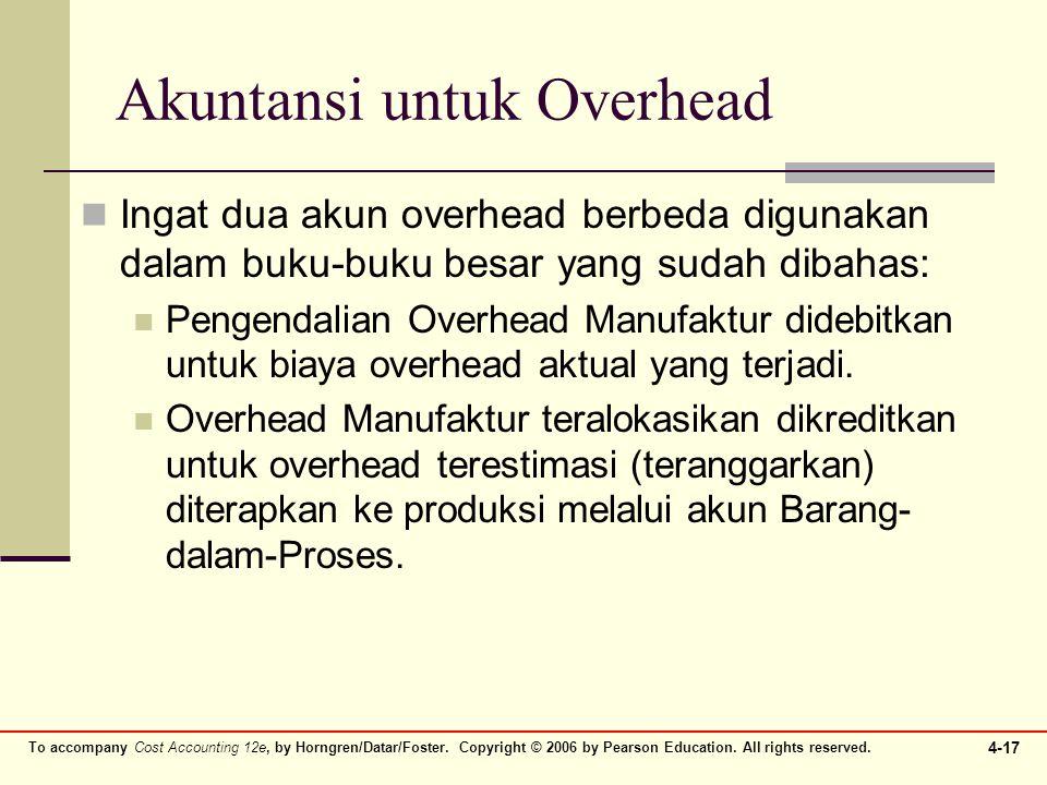 Akuntansi untuk Overhead