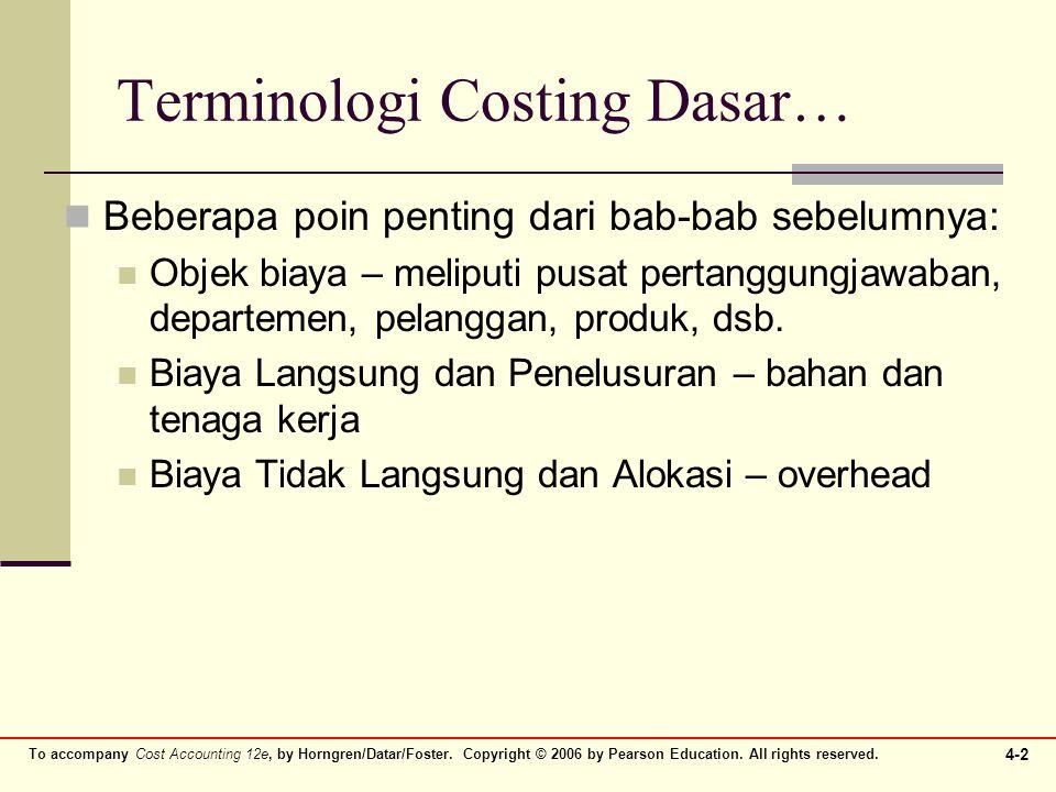 Terminologi Costing Dasar…