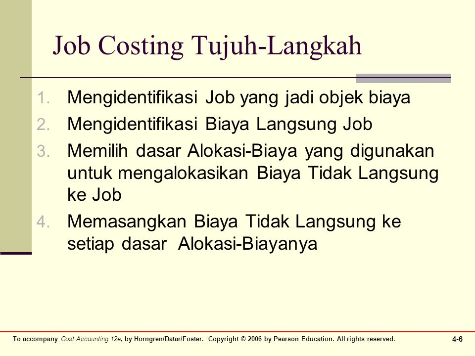 Job Costing Tujuh-Langkah