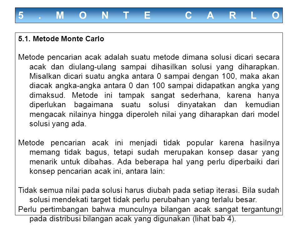 5.MONTE CARLO 5.1. Metode Monte Carlo.
