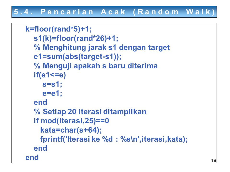 5.4. Pencarian Acak (Random Walk)