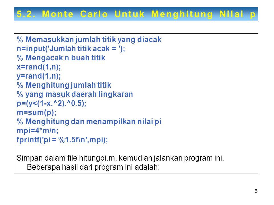5.2. Monte Carlo Untuk Menghitung Nilai p