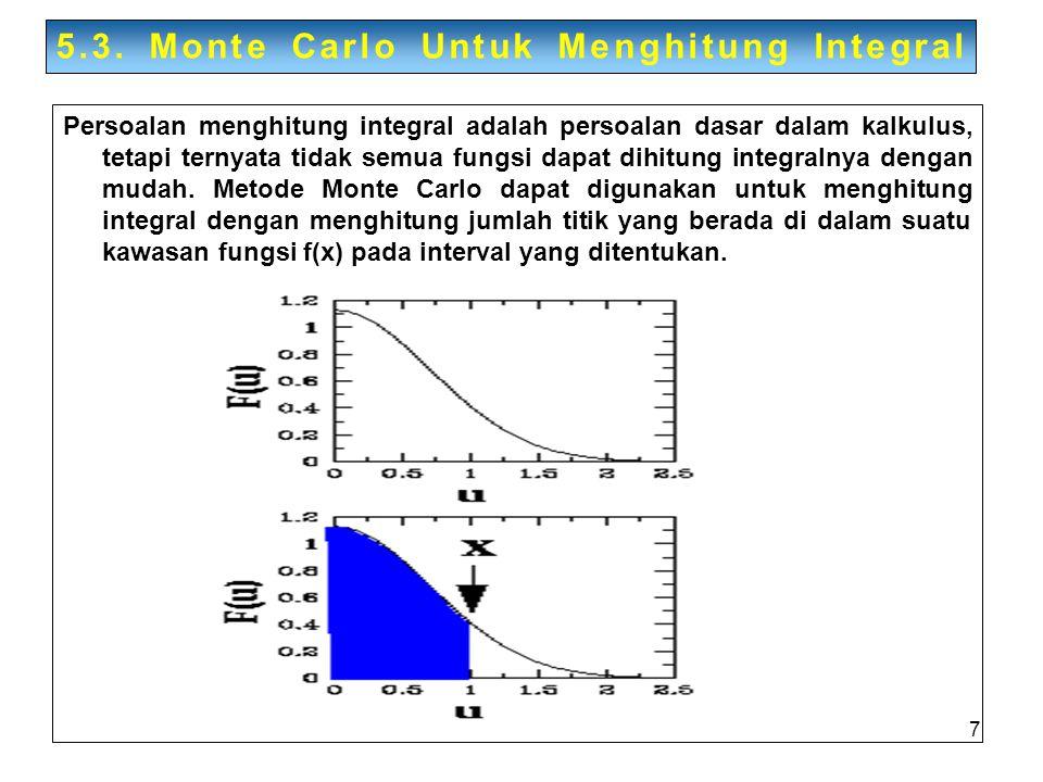 5.3. Monte Carlo Untuk Menghitung Integral