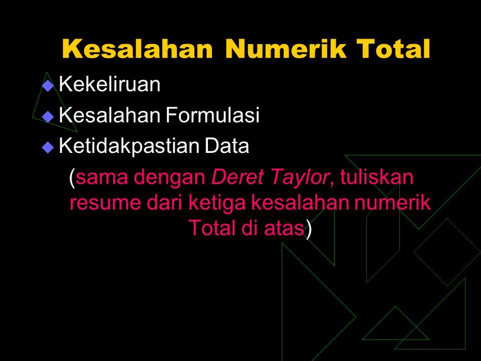 Kesalahan Numerik Total