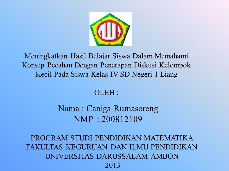 Nama : Caniga Rumasoreng NMP : 200812109