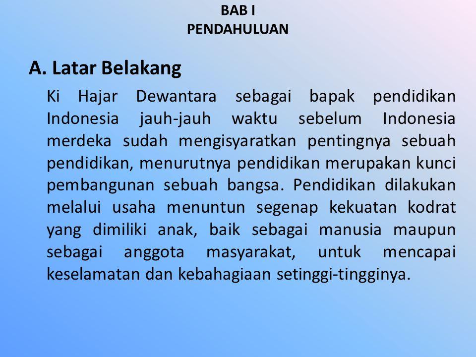 BAB I PENDAHULUAN A. Latar Belakang.