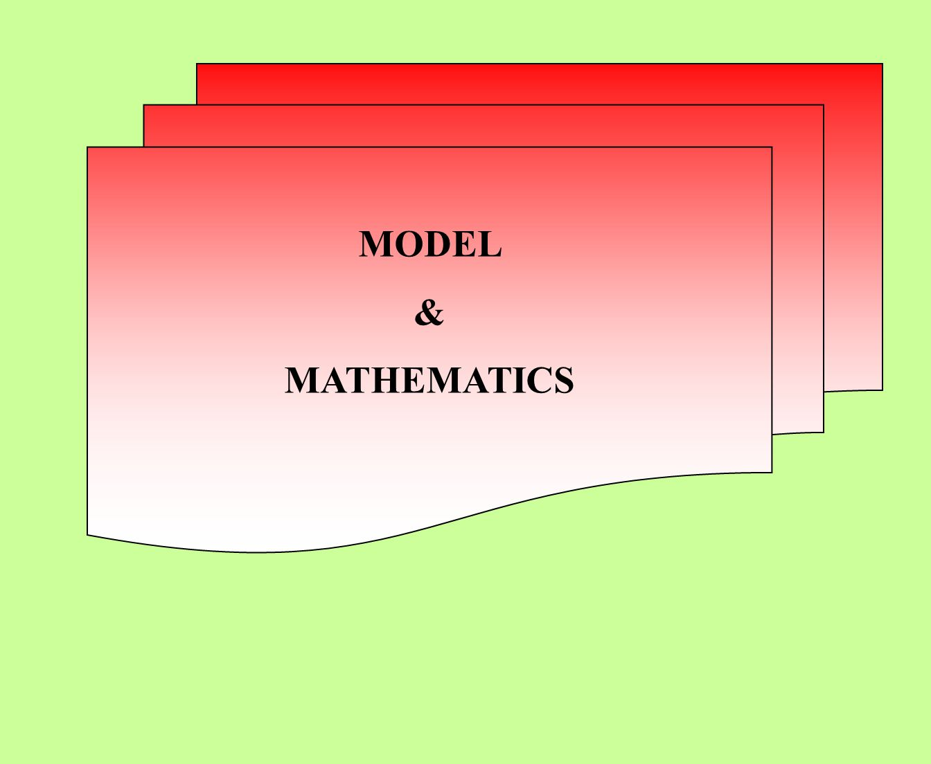 MODEL & MATHEMATICS