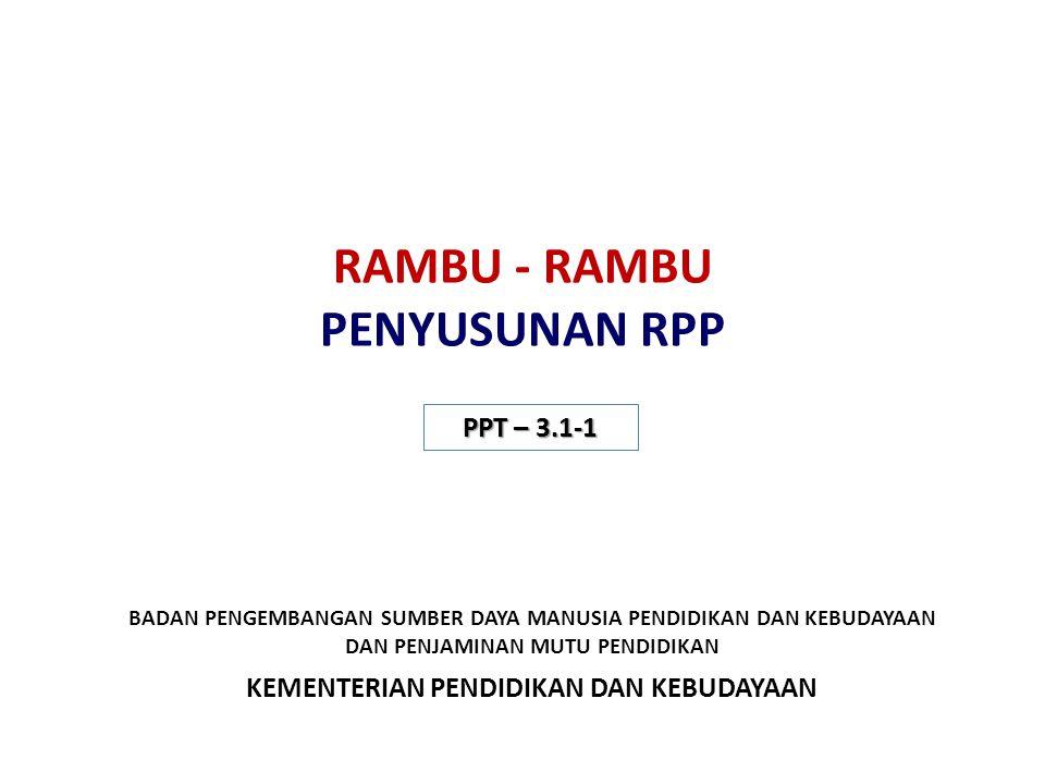 RAMBU - RAMBU PENYUSUNAN RPP