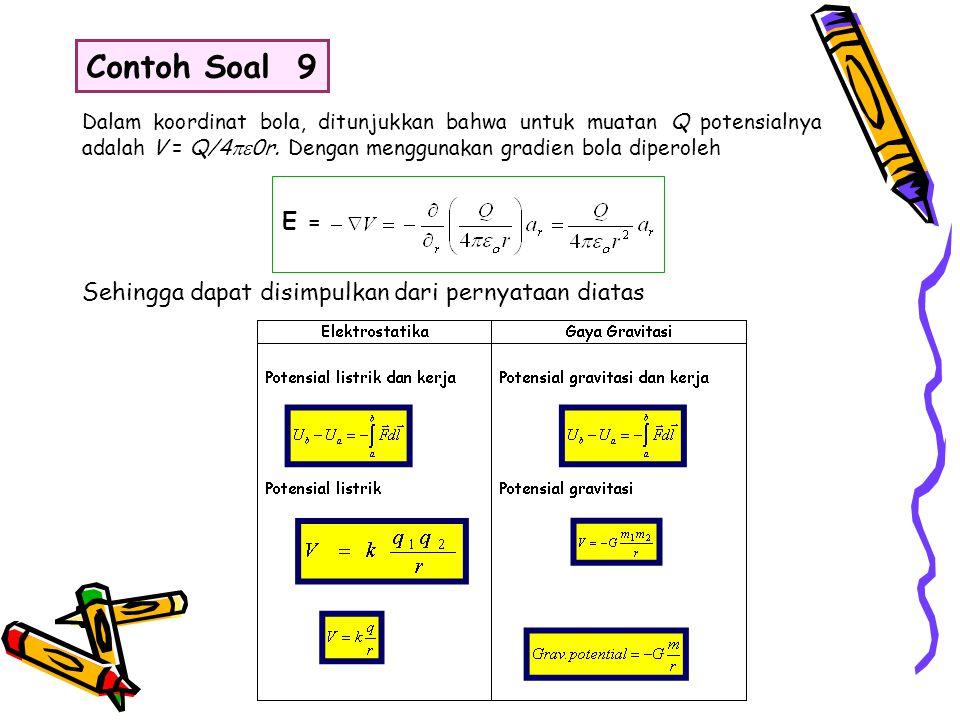 Contoh Soal 9 E = Sehingga dapat disimpulkan dari pernyataan diatas