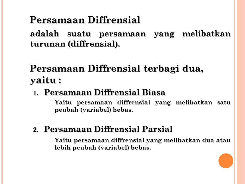 Persamaan Diffrensial